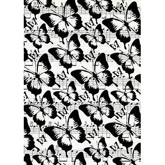 Sentimentally Yours Butterfly Dance Background Stamp