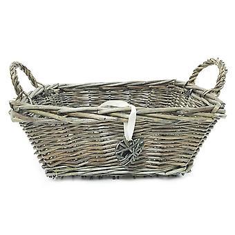 Rectangle Fruit Wicker Storage Basket