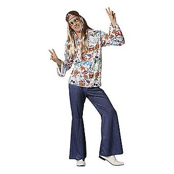 Costume for adults hippie flowery shirt
