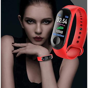 M3 Plus Smart Bracelet Heart Rate Blood Pressure Health Waterproof Smart Watch,