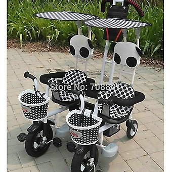 Multifunctional Twins Pedal Tandem Trike With Steel Frame