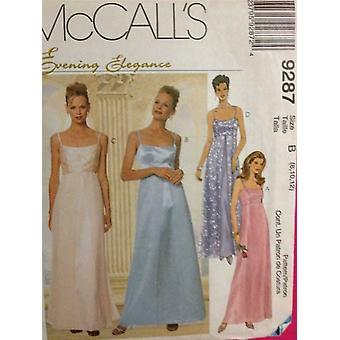 McCalls Schnittmuster 9287 Damen Misses Kleid & Schal Größe 10-14 ungeschnitten