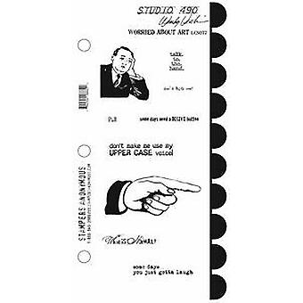 Stampers Anonymous Stamp Set - Worried About Art