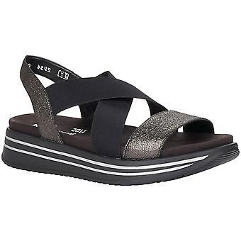 Nero Zwarte Casual Platte Sandalen