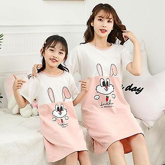 Family Mother Daughter Dresses, Summer Pajamas Sleepwear
