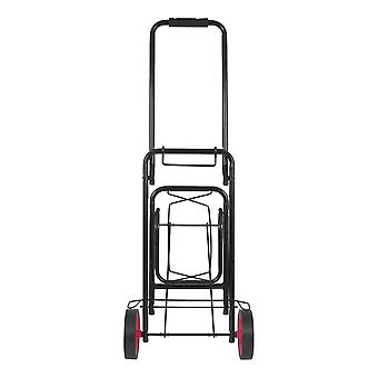 Milestone Foldable Heavy Duty Camping Kit Trolley Black 50Kg