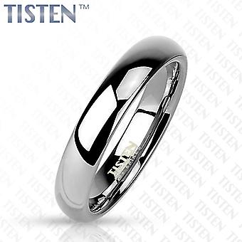 Tisten tungsten polished titanium plain traditional wedding band ring 4mm wide