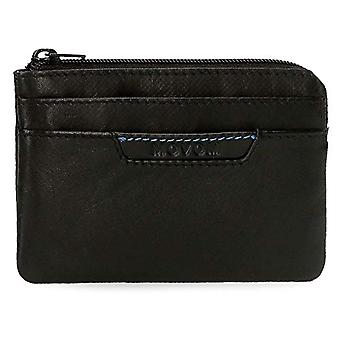 Movom Highway Black Coin Purse 11x7x1.5 cms Leather
