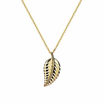 Gaia - Tropical Leaf Icons Pendant - 40cm +3cm extender - Silver - Jewellery Gifts for Women from Lu Bella