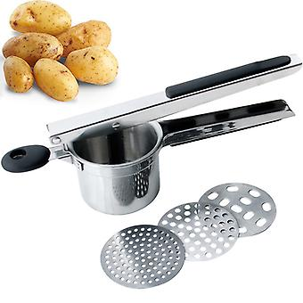 Potato Ricer Fruit Vegetable Masher With 3 Interchangeable Discs