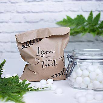 Love is Sweet Bags | Wedding Favour Treats Crafts Stall Display Gifts x10