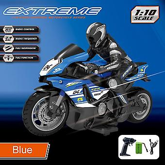 Racing And Drift Motorbike Omidirection Control Children's Simulation Electric RC Toys(Blue)