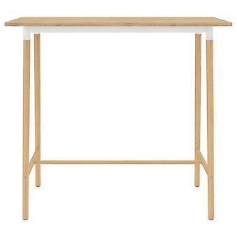 vidaXL Bar tafel Bruin 120x60x105 cm MDF & massief hout beuken