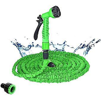 الأخضر 100ft أنابيب خراطيم قابلة للتوسيع مع بندقية رذاذ لحديقة سقي مجموعة غسيل السيارات 25ft-175ft cai1505