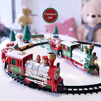 Train Set With Lights And Sounds, Christmas Railway Tracks, Battery Operated,