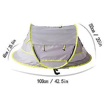 Vihreä vauva ranta telttattava pop up telttaupf 50 + aurinkosuojatbaby sävy hyttysverkko x7950
