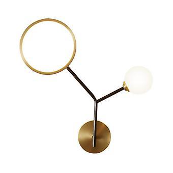 14W Kreativ LED Ljuslampa Sovrum Vardagsrum Matsal Dekoration Guld Vägglampa (varmt ljus)
