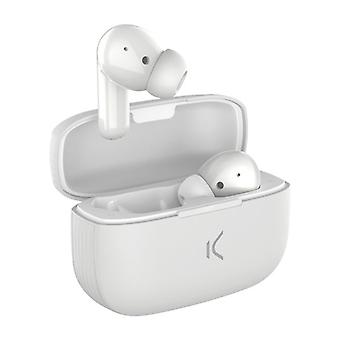 Wireless Headphones KSIX White Bluetooth 5.0