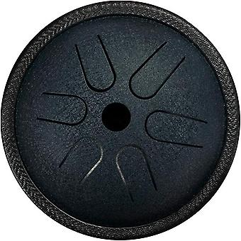 Hluru 5.5 inch steel tongue drum 6 -tone with travel bag and mallets, percussion instrument, harmonic handpan drum