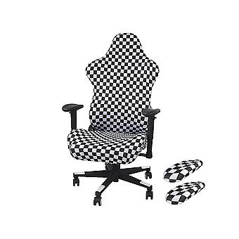 White and black 85x61cm and 57x57cm and 27x7cm gaming chair cover back cover/cushion cover/armrest homi3615