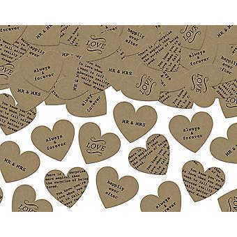SISTE FÅ - 3g Bryllup Setning Hjerte formet Kraft Papir Konfetti for Håndverk