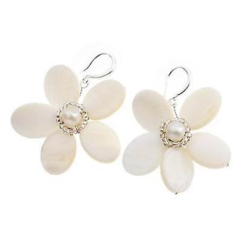 Ottaviani jewels earrings white flowers 500068o