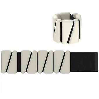 Set von 2 (1lb each) Verstellbares tragbares Handgelenk & Knöchelgewichte (Beige)