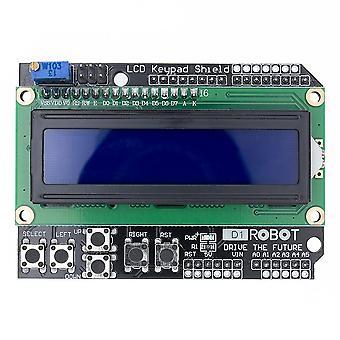 Lcd štít lcd klávesnice Lcd1602 Lcd 1602 Modul Displej Modrý displej pro Arduino