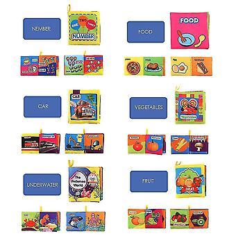10 трехмерных детских тканевых книг, игрушек для раннего образования, детских слезозащитных и моющиеся ладони