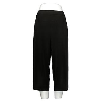 Susan Graver Pantalon Femme Reg Tummy Control Low Bell Knit Noir A303341