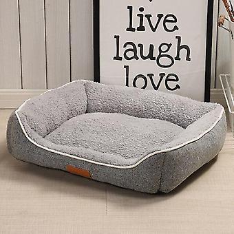 Dog Kennel Puppy Cat Bed Pet Supplies Soft Sofa Keep Warm House Plush Thicken Cushion Stuffed