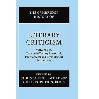 Cambridge Histoire de la critique littéraire XXe siècle Historique, philosophique et psyc...