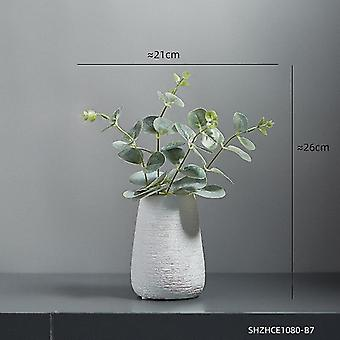 Keramikvaser i nordisk stil med blomkombinationer(kombination 8)