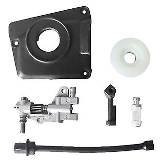 Oil Drive Pump Kit For Chinese Chainsaw 4500 5800 45cc 52cc 58cc Pump Cover Worm Gear Oil Filter Pipe Replacement Wholesale