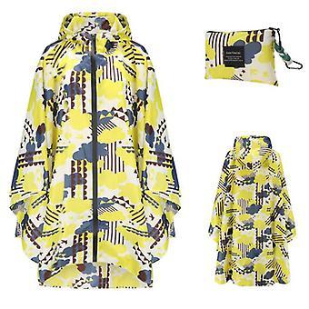 Mimigo Portable Pongee Teflon Waterproof Cloth Raincoats For Adults, Reusable Rain Ponchos With Hoods And Sleeves Lightweight Raincoats