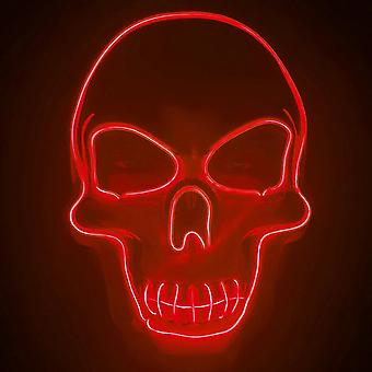Hywell Halloween Skeleton Led Mask Glow Scary Skull Mask With 3 Flash Modes Party Costume