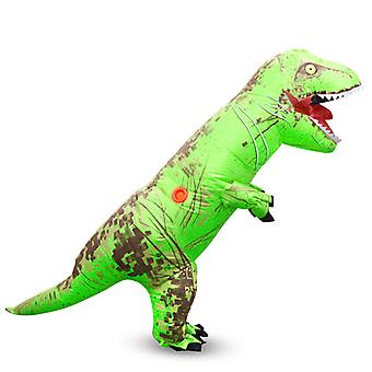Green Tyrannosaurus Rex (child) Halloween Cosplay Tyrannosaurus Rex Inflatable Costume Dinosaur Costume