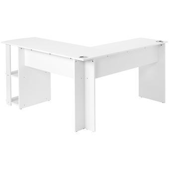 Kulma L-muotoinen työpöytä