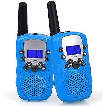 Pequeño walkie talkie para niños azul, 2 habitaciones, walkie talkie pequeño para niños, walkie talkie portátil