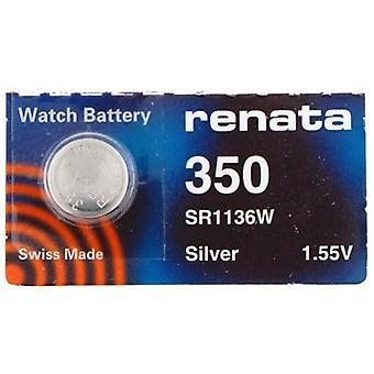 Renata 1.55 Volt Watch Battery 350 Replcaces - Pack of 10 (SR1136W)