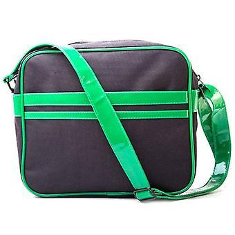 TEENAGE MUTANT NINJA TURTLES (TMNT) Messenger Bag med ansikten Design, svart/grön (MB301000TNT)