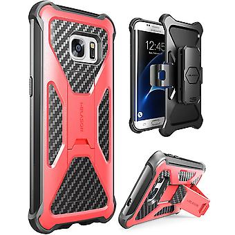 i-Blason Galaxy S7 Edge Prime Series Stand Case and Holster  - Red
