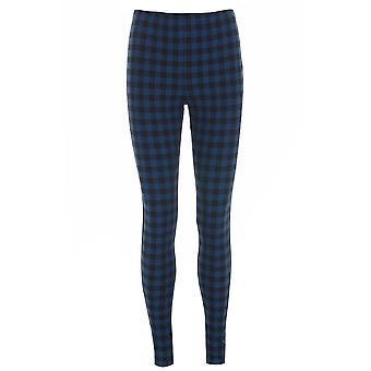 Topshop Blue Check Leggings TRS221-4