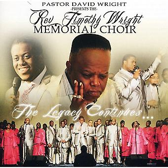 Timothy Wright - Memorial Choir [CD] USA import