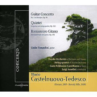M. Castelnuovo-Tedesco - Mario Castelnuovo-Tedesco: Guitar Concerto; Quintet; Romancero Gitano [CD] USA import
