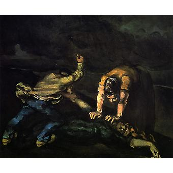 Paul Cezanne - Murder in the Night Poster Print Giclee