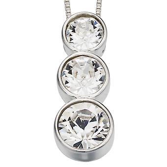 925 zilveren Zirkonia ketting modieus