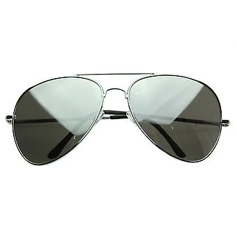Grande lunette métal miroir lunettes de soleil aviateur