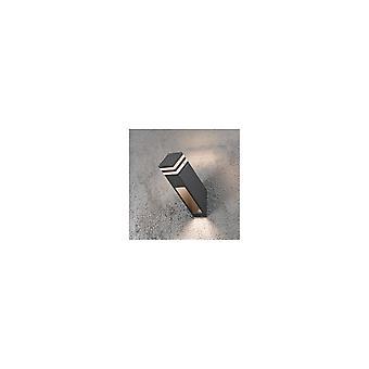 Konstsmide Massa Grey Wall Post Light With Acrylic Lens
