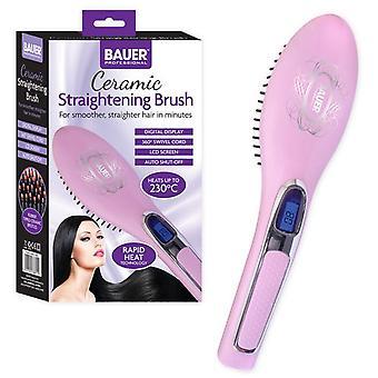 Bauer rose cheveux professionnel soins céramique chauffé brosse à défriser